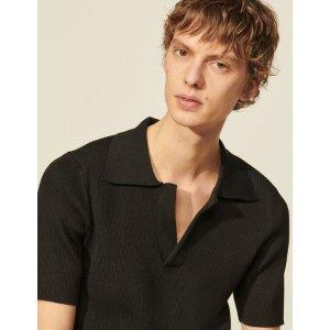 SandroKnitted polo shirt