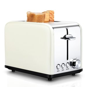 2 Slice Retro Toaster - Cream | ToBox