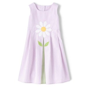 GymboreeGirls Sleeveless Daisy Seersucker Shift Dress - Pocketful Of Posies