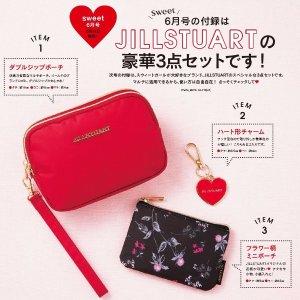 $8.1 / RMB50.5 直邮美国Sweet 6月号 随刊附赠 JILLSTUART 包包三件套 热卖