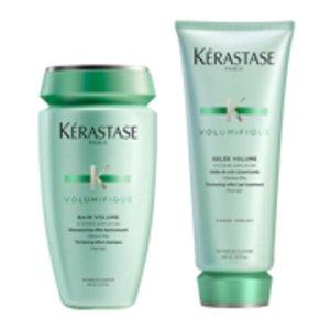 Kerastase丰凝充盈两件套装 洗发水250ml+护发素200ml 细软扁塌发质