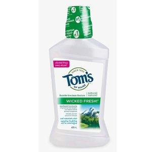 Tom's of Maine 薄荷天然无氟漱口水473ml