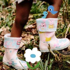 封面雨靴$85 小猪靴袜$40Hunter x Peppa小猪佩奇 限定儿童系列 可爱到犯规吖