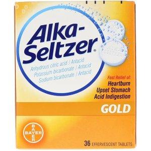 Alka-seltzer, Gold, 36 Effervescent Tablets