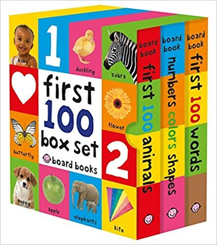 童书 First 100 Board Book Box Set (3 books)