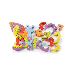 BeginAgainButterfly A to Z 26-Piece Puzzle