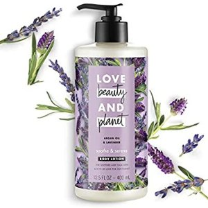 $3.59(原价$8.99)白菜价:Love Beauty and Planet 薰衣草阿甘油身体乳