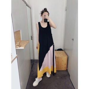 COS拼色裙