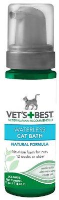 Vet's Best Waterless Cat Bath, 4-oz bottle - Chewy.com