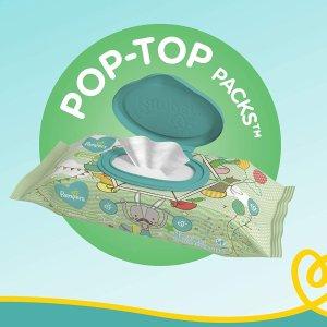 $14.25(原价$18.99) 2种可选Pampers 敏感型宝宝湿巾 销量No.1 湿巾强度增加4倍