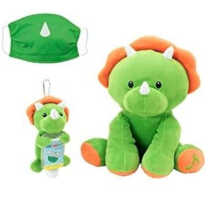 WelloBeez Antimicrobial Plush, Musical Clean Crew Plush with Hand-Washing Song + Clip & Clean