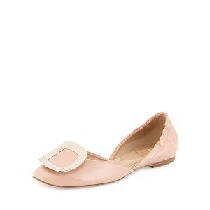 Roger VivierBallerine Chips Patent d'Orsay 平底鞋