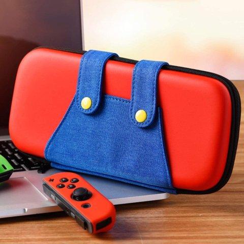 4.6折起 €14.39收封面款收纳包Nintendo Switch 配件合集 收保护壳、收纳包、手柄、储存卡等