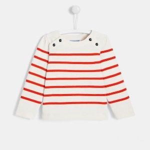 法式条纹毛衣