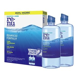 $11.97Bausch + Lomb ReNu Advanced Triple Disinfect Formula Multi-Purpose Eye Contact Lens Solution 12 Fluid Ounces (Pack of 2)
