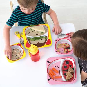 $9.97(原价$16.99)Skip Hop 宝宝碗碟套装  多款动物图案