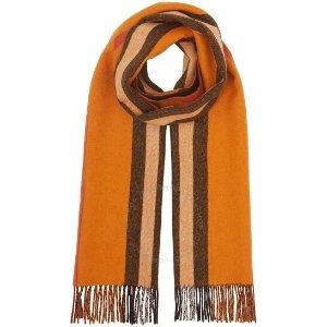 Burberry橘色经典款围巾