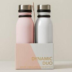 原价$49.5Indigo 订单满$30 换购情侣金属保温水瓶2只 仅需$24.5