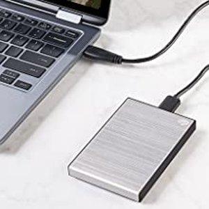 7.4折 €51.99(原价€69.99)Seagate Backup Plus Slim 1TB 银色移动硬盘 重要文件记得备份