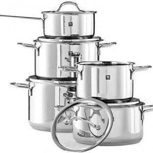 $199.99(官网原价$650)ZWILLING Focus 不锈钢炊具套装 10件套 实现健康烹饪