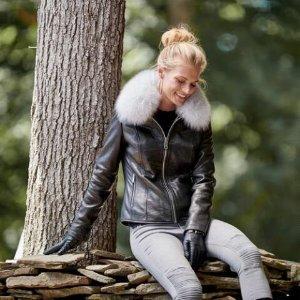 Wilsons LeatherVintage Fur Collar Leather Jacket