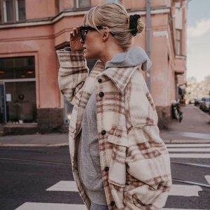 €59收皮毛一体外套H&M 秋冬大衣、外套专场热卖 平价有质感 出街凹造型必备