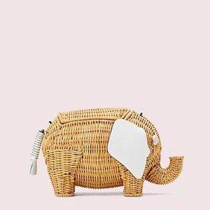 Kate Spadecici、孟子义同款小象编织包