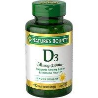 Nature's Bounty 维生素D 350粒