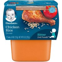 Gerber 2阶段鸡肉米糊 4盎司*8