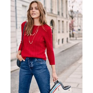 BodenAmelie Sweater - Postbox Red