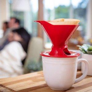 4.2折 $3.98(原价$9.58)白菜价:Melitta 德国美乐家 红色锥形手冲咖啡滤杯  可搭配纯天然滤纸