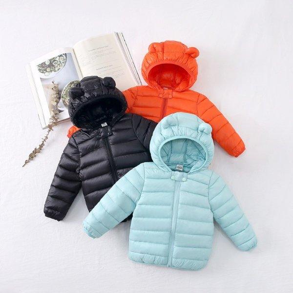 儿童保暖棉服 带小耳朵