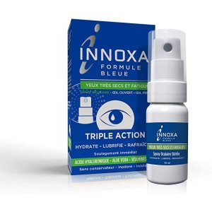 INNOXA亚马逊销量第一,适用眼干、眼疲劳眼部护理喷雾(蓝色配方)10ml