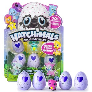 $7.99 Hatchimals - CollEGGtibles - 4-Pack + Bonus (Styles & Colors May Vary) @ Amazon