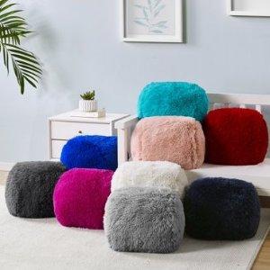 Mainstays 蓬松毛绒装饰抱枕,2件