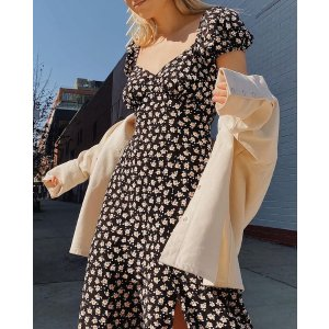 French ConnectionAura Drape Midi Dress