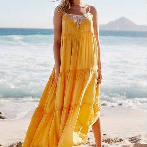 低至3折 收暑假必备Free People 折扣区上新 超仙度假风美裙热卖