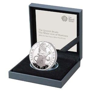 The Royal Mint莫蒂默白狮纪念币 全球限量4200枚