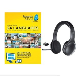 Rosetta Stone 12 Month Subscription With Logitech H800 Bluetooth Wireless Headset Dealmoon