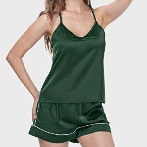 仅$9.99 超高性价比丝感家居服套装 舒适凉爽 小仙女宅家必入 超多色可选