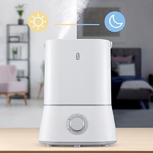 $47.99(原价$69.99)TaoTronics 4升大容量超声波静音冷雾加湿器 两色可选