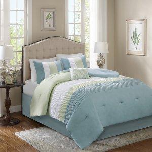 $39.99限时:Windsor 床品被子5件套 多尺寸2色可选