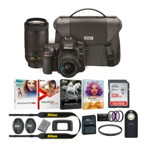Nikon D7500 DSLR +18-55 & 70-300mm 镜头 + 128GB SD + 配件