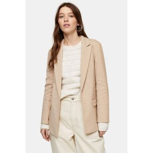 TopshopTan Slouch Double Breasted Blazer