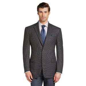 Executive Collection Traditional Fit Windowpane Plaid Sportcoat CLEARANCE
