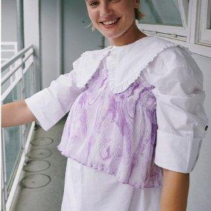 1.5折 £52收上衣Ganni 丹麦小众设计折扣上线 白菜价超级划算 快来康康