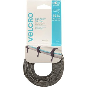 VELCRO Brand ONE WRAP Thin Ties 30 Count