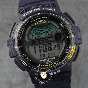 $27.48(原价$36.99)卡西欧男士钓鱼计时器石英表 一起当钓鱼达人叭