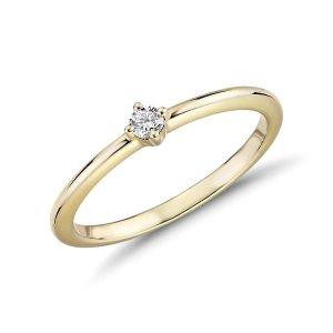 Blue NileMini Diamond Stackable Fashion Ring in 14k Yellow Gold (1/10 ct. tw.) | Blue Nile