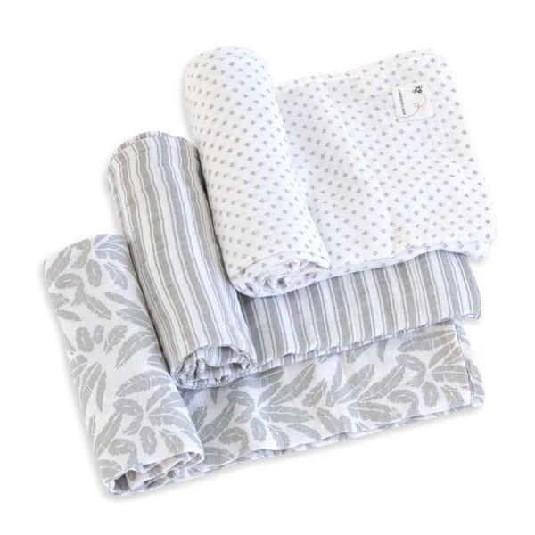 有机棉纱布包巾3条装